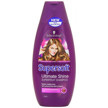 Schwarzkopf Supersoft Ultimate Shine Super Fruit Shampoo 400Ml