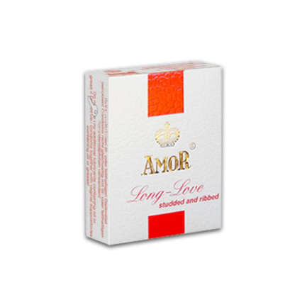 Amor Long Love (studded and ribbed) ribbed condoms