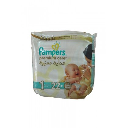 Pamper Premium Care 1 (2-5 Kg) 22 Pcs