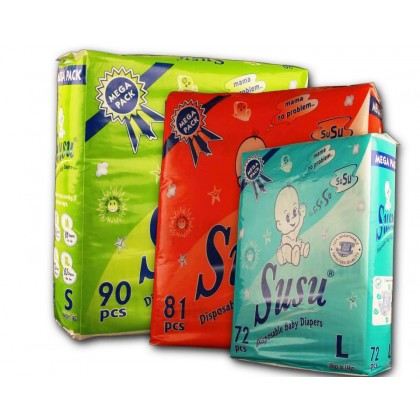 Susu Diapers Mega Pack Medium (81Pcs)