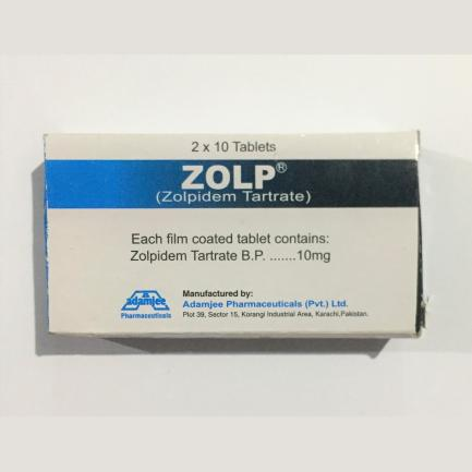 Zolp (zolpidem tartrate) 20 tablets