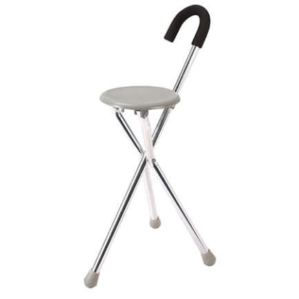 crutch with seat for adults