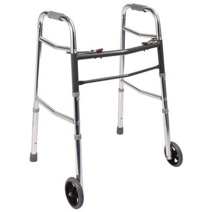 Aluminium Foldable Stair Climbing Walker Wholesale - with wheel in Pakistan
