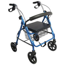 Drive Aluminium Foldable Rollators with handbreakes in blue color