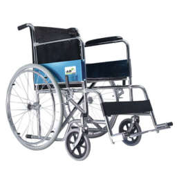 Steel wheelchair for handicaps