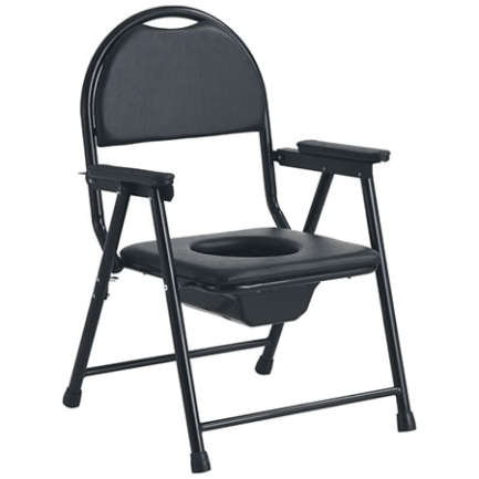 Power coated Steel black frame with Seat and Backrest made of Hard foam