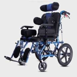 Adjustable high back rest with alloy spray frame wheelchair