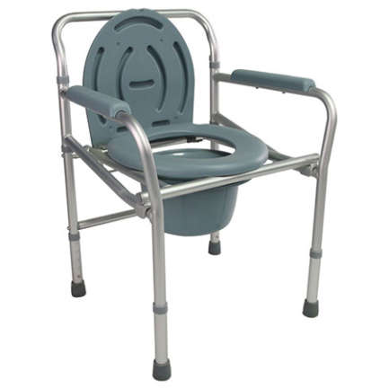 Alminium dull silver frame with Adjustable height wheel chair