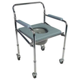 Power coated Steel silver frame with Pedal brake