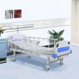 two cranks manual medical care bed with central locking cestors