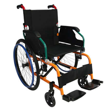 Power coated steel frame Half folding backrest with large seat