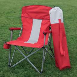 folding Hard Arm Chair - red