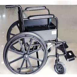 Chrome frame wheelchair Fixed armrest and legrest