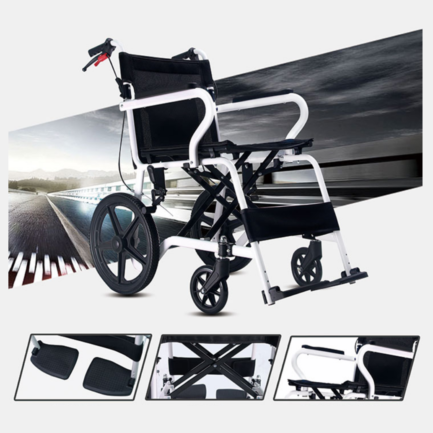 Aluminium Frame Fixed Armrest and Legrest with breaks and foldable back seat