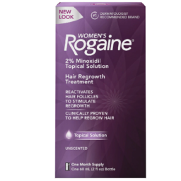 Women's Rogaine 2% Minoxidil Topical Solution for Hair Thinning and Loss, Topical Treatment for Women's Hair Regrowth