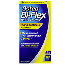 Glucosamine Chondroitin & Vitamin D, Triple Strength by Osteo Bi-Flex, Joint Health Supplements with Bone & Immune Support*, Gluten Free, 80 Coated Tablets