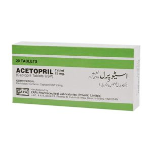 Acetopril tablet 25 mg 20's