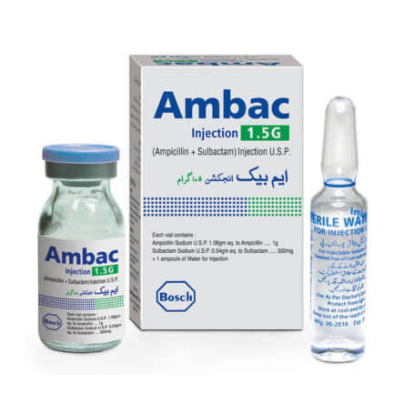 Ambac Injection 1.5 gm 1 Vial