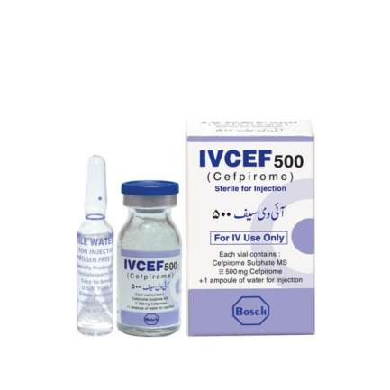 Ivcef Injection 500 mg 1 Vial