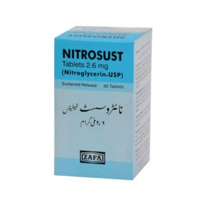 Nitrosust tablet SR 2.6 mg 30's