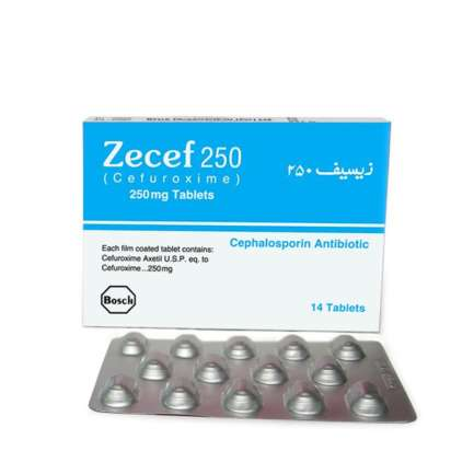 Zecef tablet 250 mg 14's