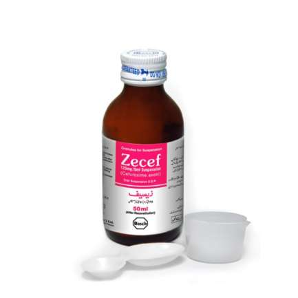 Zecef suspension 125 mg 50 mL