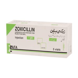 Zoxicillin Injection 1 gm 5 Vial
