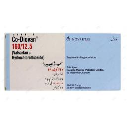 Co-diovan tablet 160/12.5 mg 28's