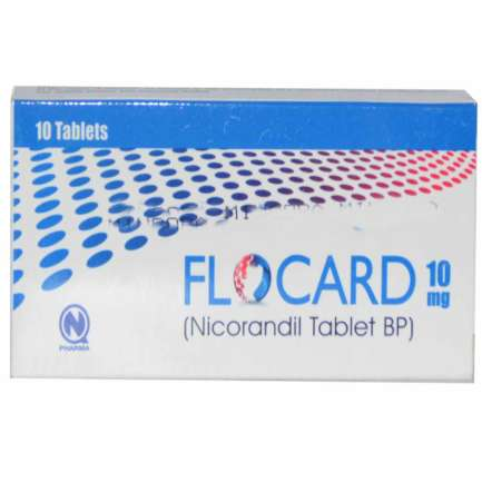 Flocard tablet 10 mg 10's