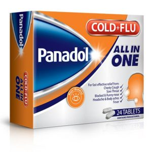 Panadol Cold + Flu all in one (All in One) 24tables imported dubai