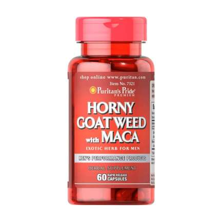 Puritans Pride Horny Goat Weed with Maca 500 mg / 75 mg 60 Capsules